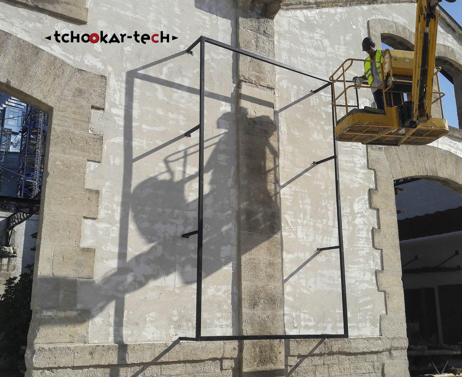 Comception et pose cadre affichage - Fondation LUMA - Arles